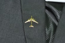 A plan form view of the Tu-142 pin against a Black Blazer